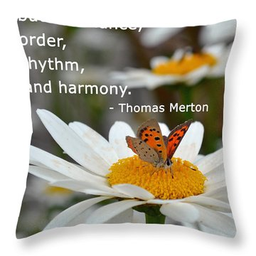Happiness Is Balance Throw Pillow