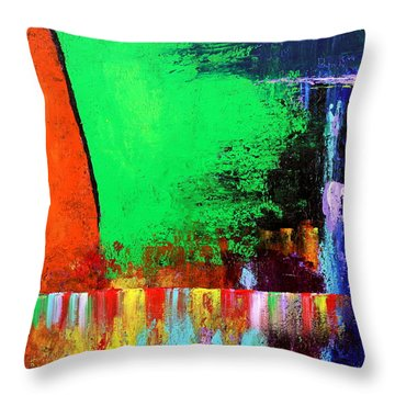 Throw Pillow featuring the painting Happiness by Kume Bryant