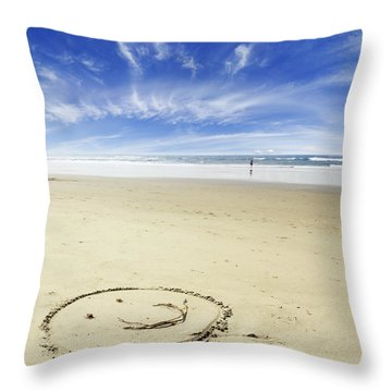 Happiness Throw Pillow by Les Cunliffe