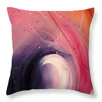 Throw Pillow featuring the painting Happiness One by Mary Kay Holladay