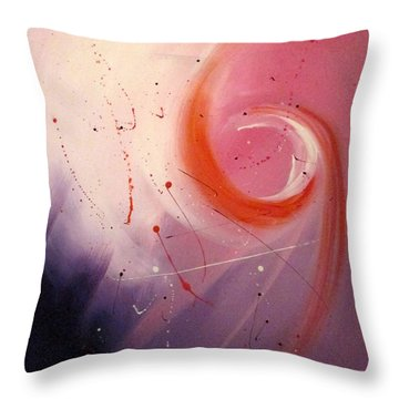 Throw Pillow featuring the painting Happiness Two by Mary Kay Holladay