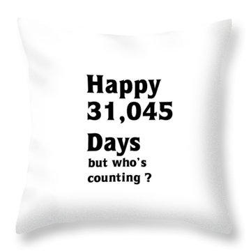 Happy 85th Birthday Throw Pillow