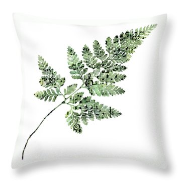 Throw Pillow featuring the photograph Happy Adventure Music Fern by Sandra Foster
