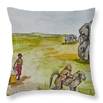 Happy Africa Throw Pillow