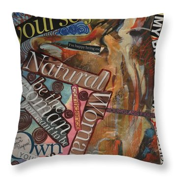 Happy Being Me Throw Pillow