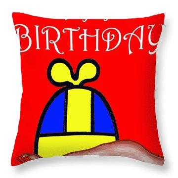 Happy Birthday 2 Throw Pillow by Patrick J Murphy