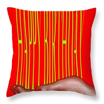 Happy Birthday 4 Throw Pillow by Patrick J Murphy