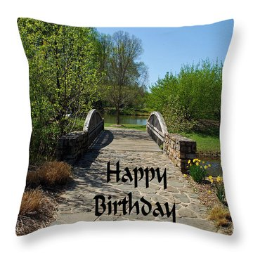 Throw Pillow featuring the photograph Happy Birthday by Bob Sample