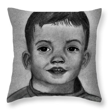 Happy Boy Throw Pillow by Saribelle Rodriguez