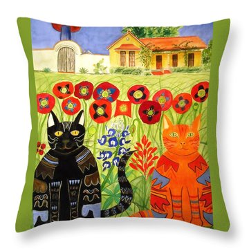 Happy Cats Throw Pillow