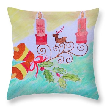 Happy Christmas Throw Pillow