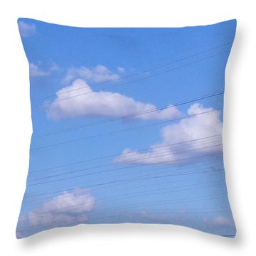 Happy Cloud Day Throw Pillow