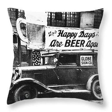 Happy Days Are Beer Again Throw Pillow