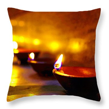 Happy Diwali Throw Pillow
