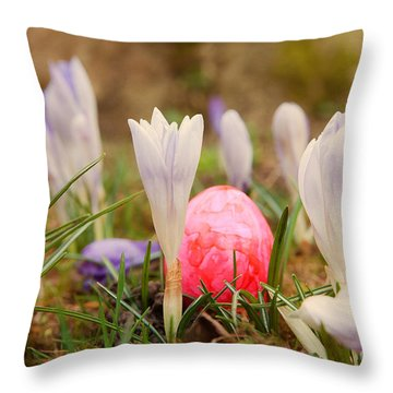 Throw Pillow featuring the photograph Happy Easter 2 by Christine Sponchia