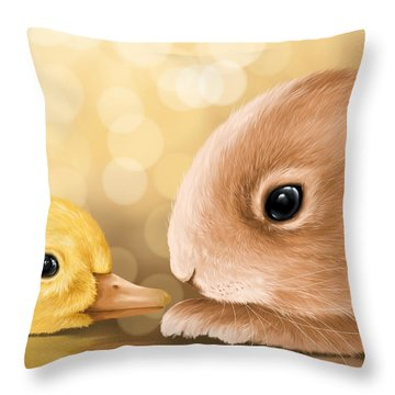 Happy Easter 2014 Throw Pillow