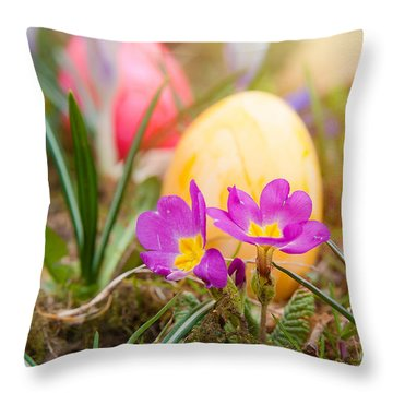 Throw Pillow featuring the photograph Happy Easter by Christine Sponchia