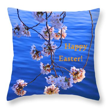 Happy Easter From Washington Dc Throw Pillow