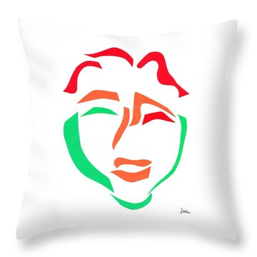 Happy Face Throw Pillow