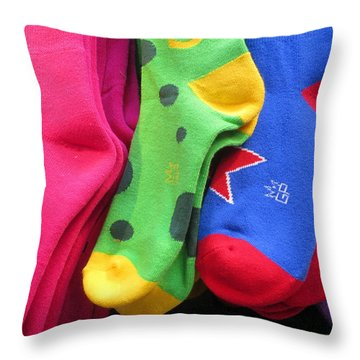 Wear Loud Socks Throw Pillow