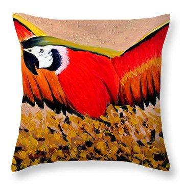 Happy Flight Throw Pillow