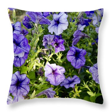 Throw Pillow featuring the photograph Happy Flowers by Wilma  Birdwell