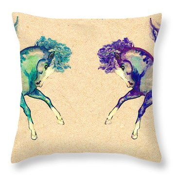 Happy Friends Throw Pillow