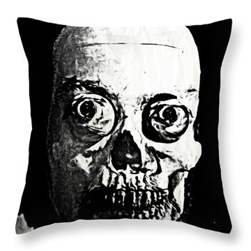 Happy Halloween Throw Pillow by John Malone
