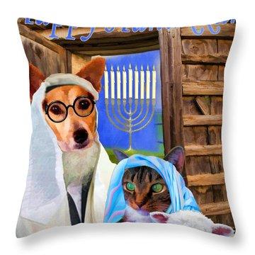 Happy Hanukkah  - 2 Throw Pillow