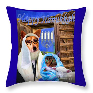 Happy Hanukkah  - 2 Throw Pillow