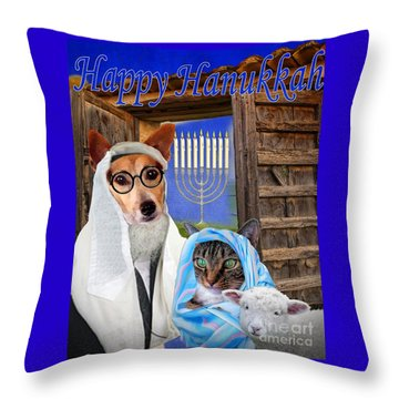 Happy Hanukkah -1 Throw Pillow