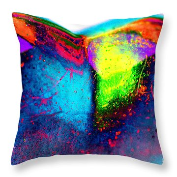 Happy Heart Throw Pillow by Carol Lynch