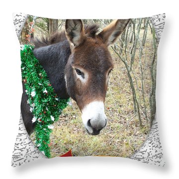 Happy Hee Haw Holidays Throw Pillow
