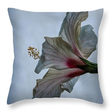 Happy Hibiscus At Biltmore Conservatory Throw Pillow
