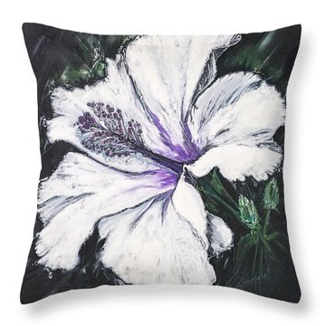 Happy Hibiscus Throw Pillow