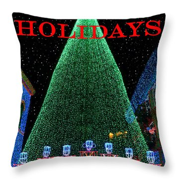 Happy Holidays Throw Pillow by David Lee Thompson