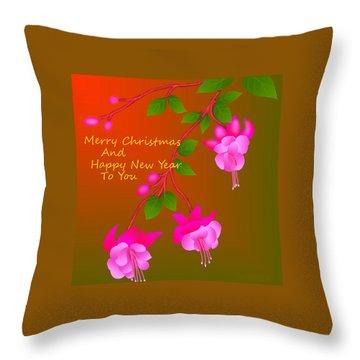 Throw Pillow featuring the digital art Happy Holidays by Latha Gokuldas Panicker