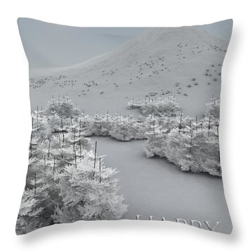 Happy Holidays Throw Pillow by Richard Rizzo