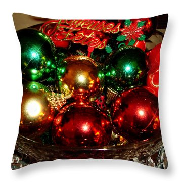 Happy Holidays Throw Pillow by Saad Hasnain