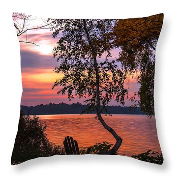 Throw Pillow featuring the photograph Happy Hour  by Cindy Greenstein