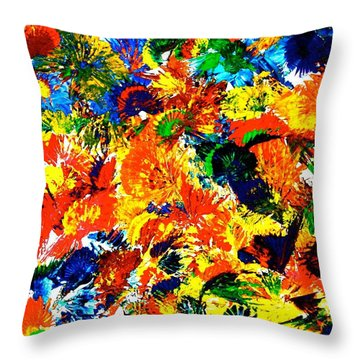 Happy Hour In Rio De Janeiro Throw Pillow