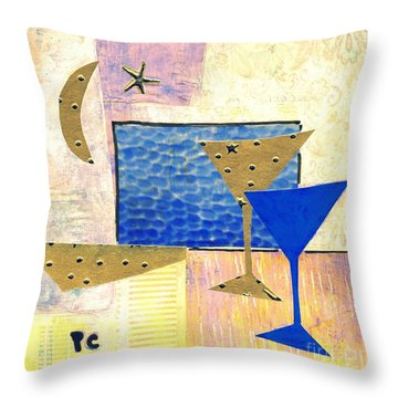 Happy Hour Throw Pillow by Patricia Cleasby