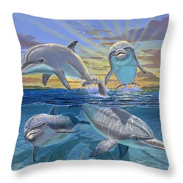 Happy Hour Re003 Throw Pillow by Carey Chen