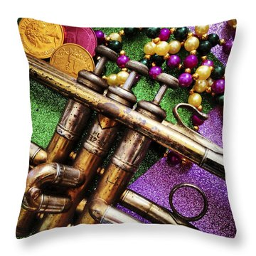 Happy Mardi Gras Throw Pillow