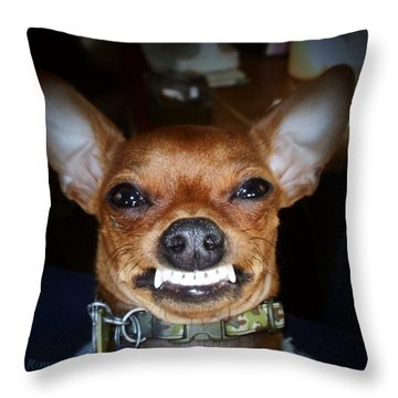 Happy Max Throw Pillow by Shana Rowe Jackson