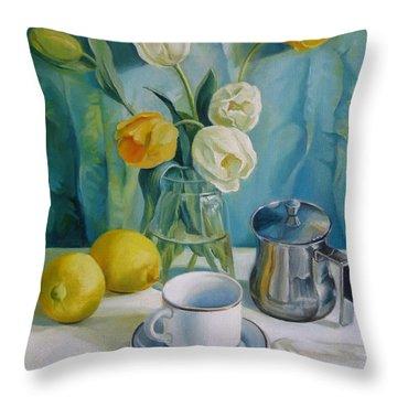 Happy Morning Throw Pillow