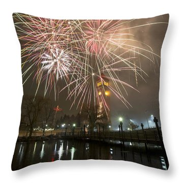 Happy New Year 2014 A Throw Pillow