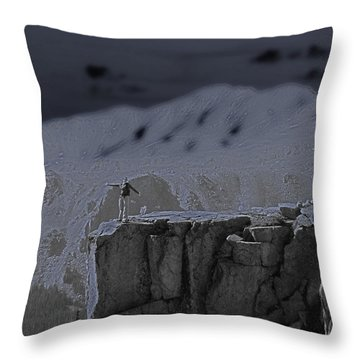 Happy On The Edge Throw Pillow by Jeremy Rhoades