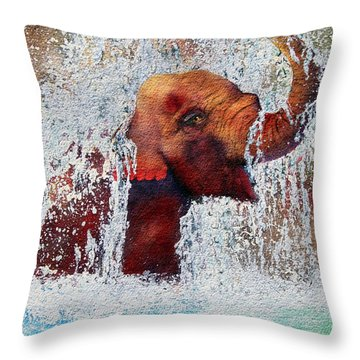 Happy Packy Throw Pillow
