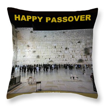 Happy Passover Throw Pillow